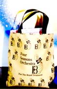Four Seasons Tote Bag with Orchestra Logo (Tan with Black Letters)