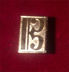 Sterling Silver Alto Clef Cuff Links